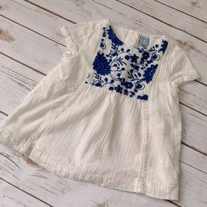 Beautiful embroidered Baby Gap top